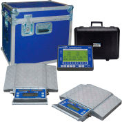 Wheel Load Scale System 100143-RFX 80000 x 20lb With 4 20000lb. Pads, Wireless Handheld Indicator