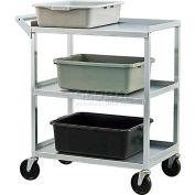 New Age 1440 Aluminum Utility & Bussing Cart 27-3/4 x 16-1/2 350 Lb. Cap