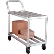 New Age 95661 Light Duty Tubular Deck Aluminum Stock Cart 700 Lb. Cap.