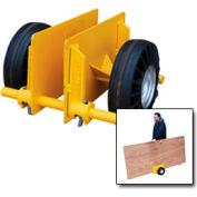 "Vestil Adjustable Plate & Slab Dolly PLDL-ADJ-8GFN 8"" Plastic Wheels 1000 Lb."