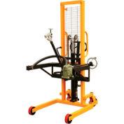 """Vestil Portable Drum Lifter-Positioner DRUM-LRT-ESJ 53"""" Lift-Rotate Jaw Cradle"""