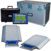 Intercomp 181543-RFX PT300DW Wireless Solar Wheel Load Scale Sys w/4 Dbl Wide Pads, 20000 x 5 lb