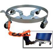 Vestil Tilting 55 Gallon Drum Dolly DRUM-QUAD-H-TLT Rubber Wheels 900 Lb.