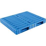 Stackable Plastic Pallet 47x39x6 , 8000 Lb Floor & 3300 Lb Fork Cap.