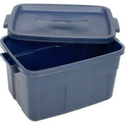 Rubbermaid 2212 Roughneck Tote 14 Gallon Dark Blue - Pkg Qty 12
