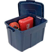 Rubbermaid 2245 Roughneck Tote 25 Gallon Dark Blue - Pkg Qty 9