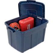 United Solutions Roughneck Tote 25 Gallon 28-7/8 x 19-7/8 x 16-3/4 Dark Indigo Metallic - Pkg Qty 9