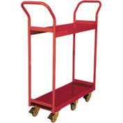 Wesco® Narrow Aisle Platform Truck 260188 48x18 2 Shelves