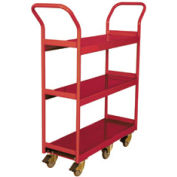 Wesco® Narrow Aisle Platform Truck 260190 36x18 3 Shelves