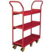 Wesco® Narrow Aisle Platform Truck 260195 48x24 3 Shelves