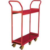 Wesco® Narrow Aisle Platform Truck 260193 48x24 2 Shelves