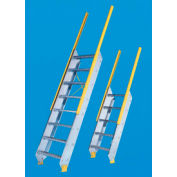 """Equipto - Ships Stair 24"""" W Tread - Floor Heights (8'-6"""" to 9'-5"""")"""
