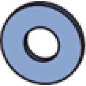 """Unistrut Channel Flat Washer Hflw025eg,1/4"""" - Pkg Qty 500"""