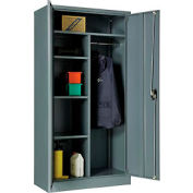 "Global™ Combination Cabinet Cabinet Assembled 36""W x 18""D x 72""H Gray"