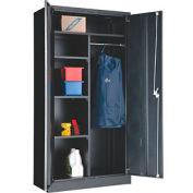 Paramount™ Combination Cabinet Assembled 36x18x72 Black