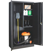 Paramount™ Janitorial Cabinet Assembled 36x18x72 Black