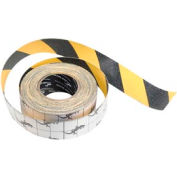 "Anti-Slip Traction Yellow/Black Hazard Striped Tape Roll, 2"" x 60 Feet"