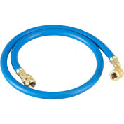 """Yellow Jacket® 60"""" Blue PLUS II™ 1/4"""" Hose With Compact Ball Valve End 29260"""