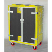Myton RTC-5829H6 46 Cu. Ft. Yellow Plastic Security Transfer Truck 950 Lb. Cap.