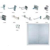 "Stainless Steel LocBoard 18""x36"" (2 Pack) & (32 Pc) LocHook Assortment"