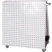 LocBoard Mobile Tool Cart with 64 Pieces LocHook Assortment