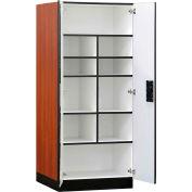 """Salsbury Designer Wood Storage Cabinet - Standard - 32"""" W x 24"""" D x 76"""" H - Cherry - Assembled"""