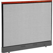 "Deluxe Non-Electric Office Partition Panel with Raceway, 60-1/4""W x 47-1/2""H, Gray"