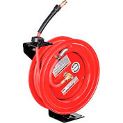 "Global™ Industrial 3/8""x 50' 300 PSI Spring Retractable Steel Hose Reel (With Hose)"