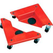Desk & Cabinet Corner Mover Dollies - Set of 4 - 1320 Cap Lbs./Set