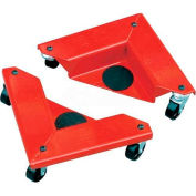 Desk & Cabinet Corner Mover Dollies - Set of 4 - 1320 Cap. Lbs. per Set
