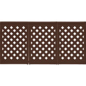 Grosfillex® Portable Resin Outdoor Patio Fence, 3-Panel Section - Brown