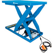 Bishamon® OPTIMUS Lift5K Power Scissor Lift Table 72 x 48 5000 Lb. Cap. Hand Control L5K-4872