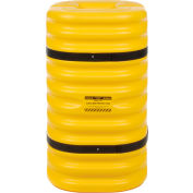 """Eagle Column Protector, 9"""" Round Opening, 42"""" High, Yellow with Black Straps, 1709"""
