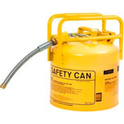 "Eagle D.O.T. Approved Transport Can w/7/8"" Flexible Hose Type II Yellow 5 Gal., 1215Y"