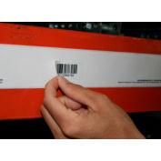 "Economy Rack Placard Label Holder, 2"" X 100 ft. Roll - White"