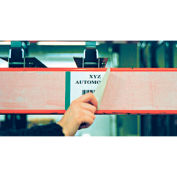 "Economy Rack Placard Label Holder, 2"" X 100 ft. Roll - Clear"