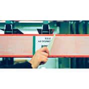"Economy Rack Placard Label Holder, 4"" X 100 ft. Roll - Clear"