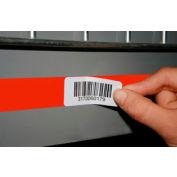 "Economy Rack Placard Label Holder, 2"" X 100 Ft. Roll - Orange - Pkg Qty 8"