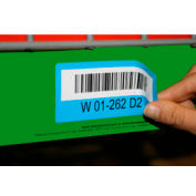 "Economy Rack Placard Label Holder, 3"" X 100 Ft. Roll - Green - Pkg Qty 6"