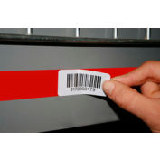 "Economy Rack Placard Label Holder, 4"" X 100 Ft. Roll - Red - Pkg Qty 5"