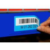 "Economy Rack Placard Label Holder, 1"" X 100 Ft. Roll - Blue - Pkg Qty 14"