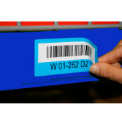 "Economy Rack Placard Label Holder, 4"" X 100 Ft. Roll - Blue - Pkg Qty 5"
