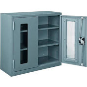 Paramount™ Clear View Wall Storage Cabinet Assembled 30x12x30 Gray