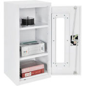 Paramount™ Clear View Wall Storage Cabinet Assembled 13-3/4x12-3/4x30 Off White