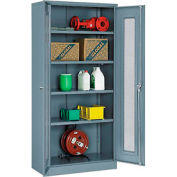 Paramount™ Storage Cabinet With Expanded Metal Door Unassembled  36x18x78 Gray