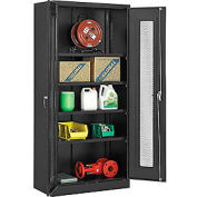 """Global™ Storage Cabinet With Expanded Metal Door Assembled 36""""W x 18""""D x 78""""H Black"""