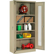 Paramount™ Storage Cabinet With Expanded Metal Door Assembled  36x18x78 Tan