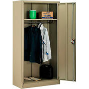 Global™ Wardrobe Cabinet Easy Assembly 36x18x72 Tan