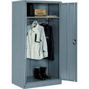 Global™ Wardrobe Cabinet Easy Assembly 36x24x72 Gray