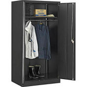 Paramount™ Wardrobe Cabinet Easy Assembly 36x24x72 Black
